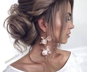 hair, hair style, and hairstyle image