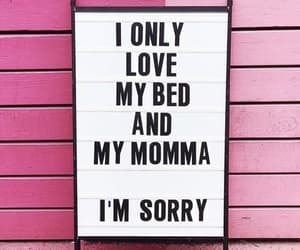 bed, sorry, and love image