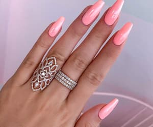 girly, rings, and nail inspo image