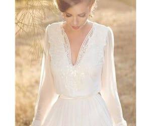 beautiful, bridal, and sleeves image
