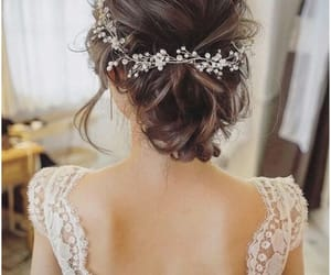 beautiful, open back, and updo image