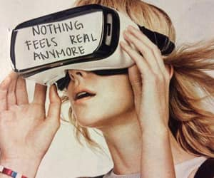 feelings, quote, and nothing real image