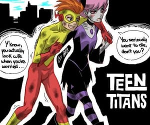 jinx, teentitans, and kidflash image