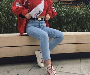 fashion, outfit, and Fila image