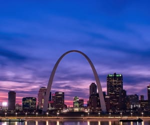 arch, blue hour, and buildings image
