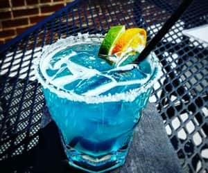blue, cocktail, and ocean image