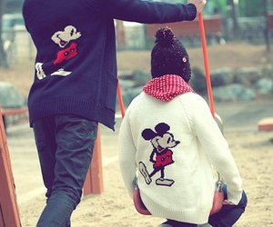 asian, mickey mouse, and asian couple image
