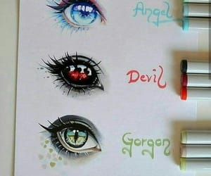 dibujos, ojos, and fantasía image