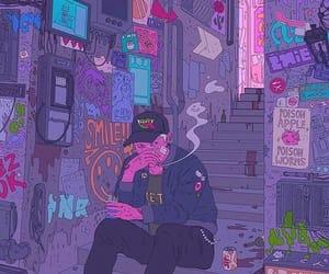 art, purple, and aesthetic image