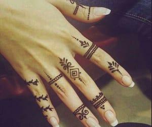 henna, mehndi, and nail image