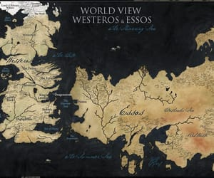 game of thrones, map, and westeros image