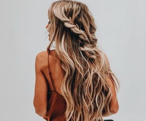 blonde, hairstyle, and brunette image