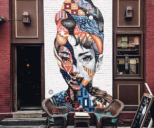 art, audrey hepburn, and street art image