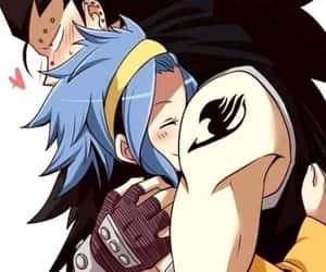 fairy tail, gajeel redfox, and levy e gajeel image