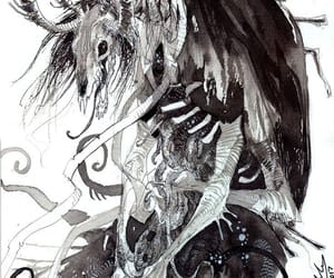 forest, ink, and native american image
