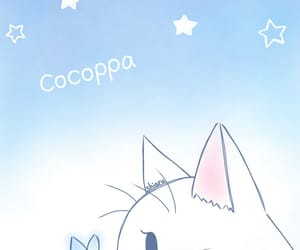 blue, cat, and stars image