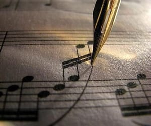 beige, music note, and music image