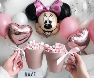 pink, balloons, and disney image