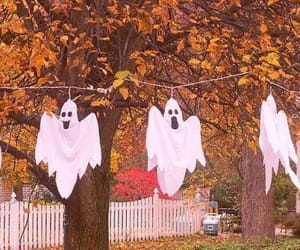 Halloween, ghost, and autumn image