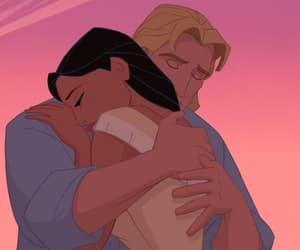pocahontas, disney, and hug image