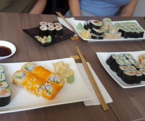 food, japanese food, and plate image