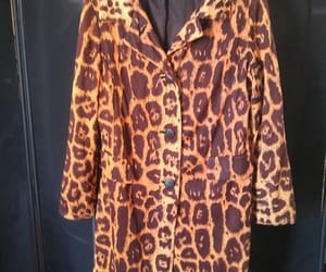 etsy, trench coat, and leopard coat image
