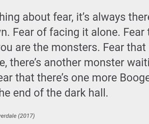 fear, quote, and riverdale image