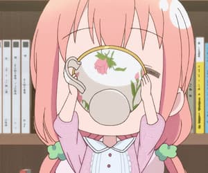 anime, gif, and tea image