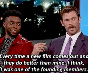 gif, chris hemsworth, and chadwick boseman image
