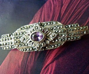 amethyst, sterling silver, and art deco image