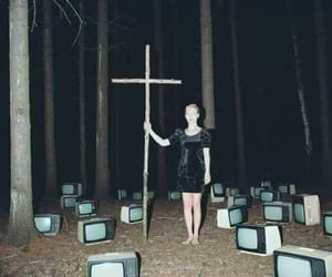 cross, television, and tv image