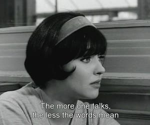 anna karina, black and white, and quotes image