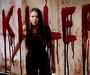 elena gilbert, killer, and the vampire diaries image