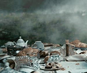 alice in wonderland, tea, and cat image