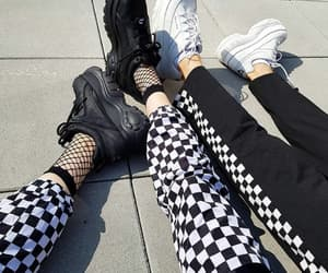bff, black and white, and fashion image