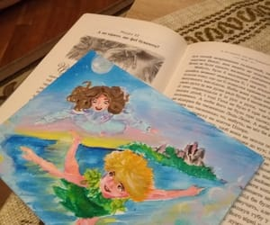art, book, and second star image