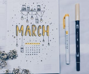 art, march, and bullet journal image