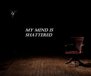 black, confused, and mind image