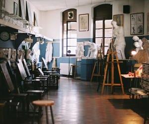 art, blue, and studio image