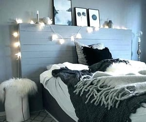 bedroom, inspiration, and lights image