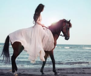 beach, pink dress, and dreamy image
