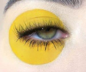 eye, yellow, and art image