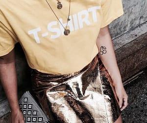 bag, fashionable, and gold image