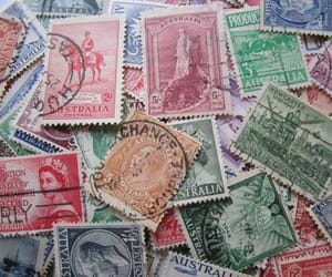 etsy, stamp collecting, and australian stamps image