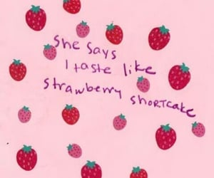 pink, strawberry, and quotes image
