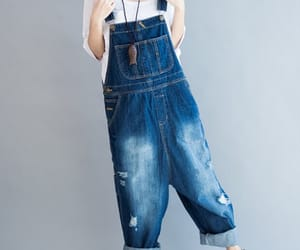 blue pants, loose pants, and casual pants image
