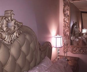 pink, luxury, and bed image