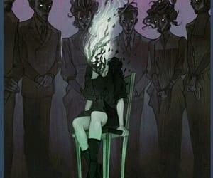 creepy, dark, and ethereal image