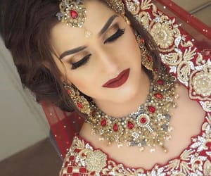 bride, makeup, and traditional image