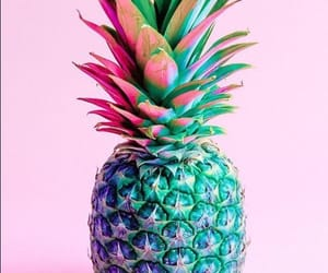 pineapple, pink, and wallpaper image
